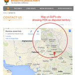 RT @kapsology: Earlier BJP was caught red-handed showing Kashmir not part of India on their official website http://t.co/sVYMga60dV