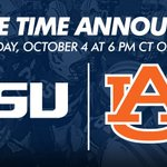 #Auburns October 4 game against LSU at Jordan-Hare Stadium will kick at 6 p.m. CT on ESPN. #WarEagle http://t.co/Oe1VGg0He9