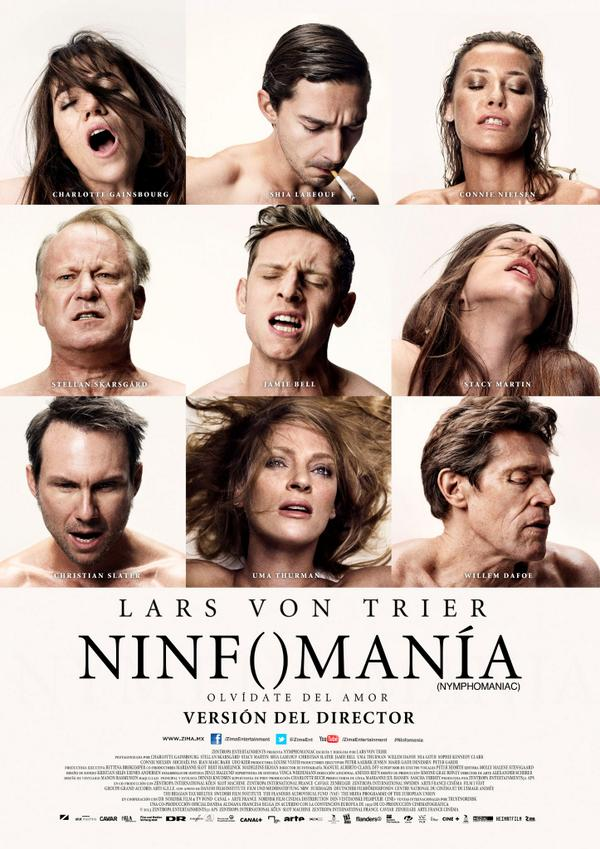 #EstrenoCineteca HOY es el estreno de la versión completa (5 horas y media) de la película NINFOMANÍA. http://t.co/fZngjxK16B