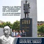 """RT @naval_peru: El 27 y 28 de setiembre, podrás conocer la cripta del """"Caballero de los Mares"""". El ingreso es GRATUITO. http://t.co/Y1PeAUWY55"""