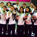 Here we are! Team India with the bronze medal http://t.co/iQKT9nDwPr