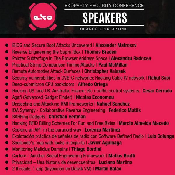 Y los Speakers #eko10 son... http://t.co/QSJeGM7WBz