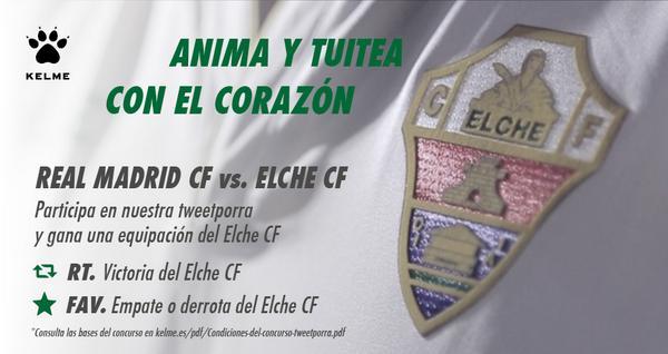 ¿Quieres la equipación del @elchecfoficial? Lanza tu pronóstico del partido con RT/Fav y entra en el sorteo. ¡Suerte! http://t.co/6dSCAzWd25