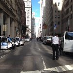 RT @JennaBPope: Broadway is totally closed down, lined with police cars. #FloodWallStreet http://t.co/ULgkYAWBXr