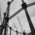 RT @spectrum12345: The Iconic #KingsCross gasholders #London #loveLondon #architecture #cranes #BlackAndWhitePhotography #blackandwhite http://t.co/Wz5PlyOjWg