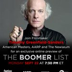 RT @PBSAmerMasters: Join us for an exclusive sneak peek of The #BoomerList TONIGHT at 7:30 ET: http://t.co/1TCgETFFhH