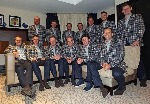 European Ryder Cup Team in the Tartan http://t.co/IBzTzy97qz
