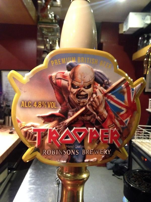 Quiet night in the @Portobellogold has escalated with @IronMaiden's trooper beer. http://t.co/OiQUAe5cih