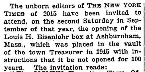 OMG this is a job perk I never imagined RT @masumaahuja: WOAH. From NYT, January 28, 1917. http://t.co/MZeu9P8O7W http://t.co/tkpMA6sGTy