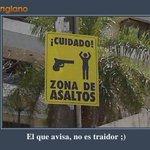 #AsiComoCuando se advierte #ParaVivirMejorMBD El que avisa, no es traidor ... ¡Cuidado! Zona de asaltos http://t.co/uXIjQ4VyqL