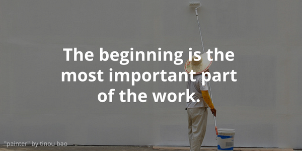 Getting started is the first step to creating a masterpiece. Take risks and start something. via @followspruce http://t.co/mC9gMnLrUX