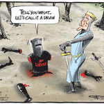 RT @bryce_edwards: Is Labour taking its defeat seriously enough? Emmersons Pythonesque cartoon in todays NZ Herald: http://t.co/Jq1chey9Fs