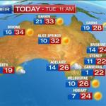 Good morning #Melbourne! Today's #weather: Sunny - a top of 26° http://t.co/bwllxCiR7L