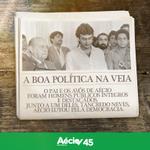 Pai e avós de Aécio foram homens públicos íntegros e destacados. Junto à Tancredo, Aécio lutou pela democracia. http://t.co/wocAMGCGXU