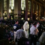 RT @exiledsurfer: Iconic #FloodWallStreet Image: #NYPD surrounds and torments flexi-cuffed polar bear. http://t.co/xiLi0BYJtZ via @CenterForBioDiv