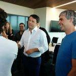 RT @paolo_barberis: Da Google con @matteorenzi , Larry Page e Sergey Brin #usmission http://t.co/zITzNVmO2o