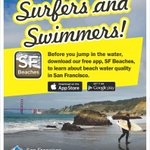 RT @SFWater: Summers over! That means its beach season in #SF! Our new app gives u water quality reports for your local beach! http://t.co/ZyExlUXAqh