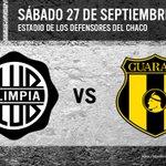 RT @elClubOlimpia: ¡Fecha Confirmada! #Olimpia vs #Guaraní - Sábado a las 19hs. en el Defensores del Chaco. Acá va toda la información. http://t.co/ZDCkIn7OoW