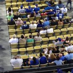 """RT @hankschulman: #dodgers call for a """"blue-out"""" a rousing success. Nothing but blue shirts out there! #sfgiants http://t.co/fYxHGO0B2Y"""