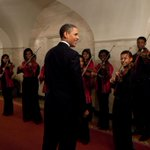 Photo: President Barack Obama and First Lady Michelle Obama greet members of the Strings For… http://t.co/P0wPgV3mvK http://t.co/JTW5wUh7sX