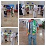 """RT @SaudiNews50: صورة - رجال أمن وموظفي مطارات #الإمارات يتفاعلون مع #اليوم_الوطني بحمل """"شالات"""" تحمل شعار #الإمارات و #السعودية . - http://t.co/GmfeqFgoqo"""
