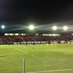 Crowd at Knights Stadium building, about 20mins before kickoff as Glory warns up before St Albans #FFACup game http://t.co/M8cAAe1VBe
