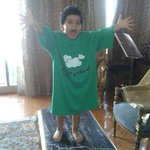 #Haqouna Youngest supporter. Yassin from Egypt supports Arab Alliance for Internet Freedom by wearing #Haqona shirt http://t.co/VFHzAgFPhB