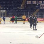 The @PanthersIHC on the ice here @Nat_Ice_Centre for morning skate ahead of their game tonight v @HH_Freezers http://t.co/JyzQl0eJ8n