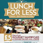 Fantastic lunch offer sandwich or salad and a drink for £5. #Nottingham #lunch http://t.co/2adYOJZ1rN