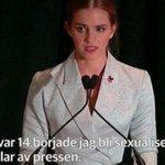 RT @dagensnyheter: Harry Potter-stjärnan Emma Watson höll brandtal inför FN. Nu sprids klippet som en löpeld http://t.co/z7EQ5j1L0E #DN http://t.co/DuK4Q4h1pv
