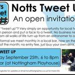Got Thursday evening in the diary to meet local tweeters in a relaxed setting? #NottsTweetUp #Nottingham #free http://t.co/nr7Wo4MeVW