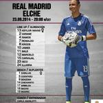 El Real Madrid sale sin 9. Chicharito y Benzema al banquillo. Keylor Navas, titular https://t.co/rZQw0EgRch