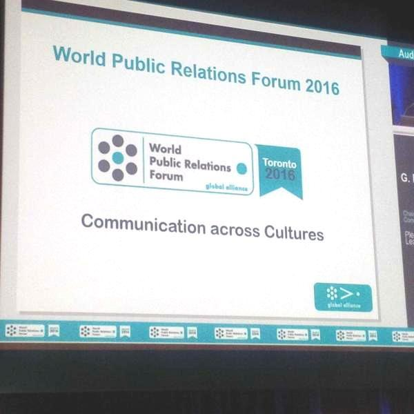 It's official! #CPRS to host 2016 @WorldPRForum in #Toronto! CPRS exec dir. @daltonkaren shares the news from Madrid http://t.co/NLK6dkRD4m