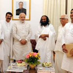 RT @PIB_India: Sri Sri Ravi Shankar meets the PM Shri @narendramodi in Bangalore http://t.co/HLVi8IZFMN