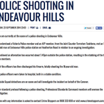 Official Victoria Police statement on the fatal shooting of a man by police in Endeavour Hills. #auspol http://t.co/zyBSm1EKQn
