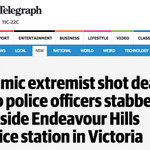 The Daily Telegraph has assumed the man who stabbed 2 policemen in Endeavour Hills was an Islamic extremist. #auspol http://t.co/W51rz3wghj