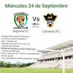 Jaguares de Córdoba FC Vs Llaneros FC mañana miércoles 24 de Septiembre en el estadio Municipal de #Montería. http://t.co/ZwPZVPahf7