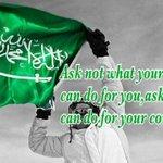RT @TranslatedQ: لا تسأل ماذا يمكن أن يقدم لك الوطن ولكن ماذا يمكن أن تقدم أنت للوطن.#غرد_بصورة #أتمنى_من_السعوديين_أن #اليوم_الوطني http://t.co/lqW7baTq9q