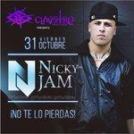 RT @PlanBMtr: Nicky Jam en #Montería próx 31 de Octubre en Claustro Bar. Preventa de boletas en @amano_express $70mil VIP. http://t.co/1B1mJ0jQ8I
