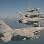 صقور الامارات ينفذون اول هجماتهم الجوية علي مواقع تنظيم داعش الإرهابي . #الإمارات_تقصف_أوكار_داعش http://t.co/v8sb8y0dDj