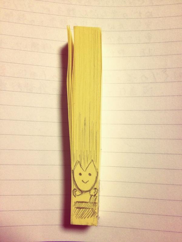 勉強に使うためにふせんを出したはずだった http://t.co/q6Asqw6eFT