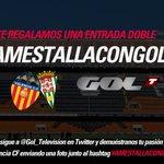 RT @Gol_Television: ÚLTIMA OPORTUNIDAD   Regalamos una entrada doble para el @valenciacf - @cordobacfsad de este jueves #AMestallaConGol http://t.co/RZtocYg95R