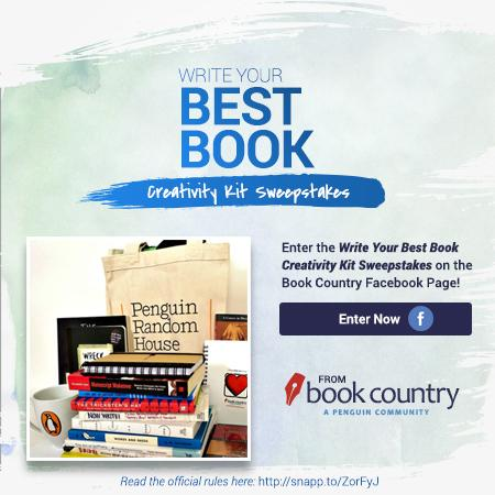 Enter @BookCountry's Write Your Best Book Creativity Kit Sweepstakes! http://t.co/robn6JuSgd #bookcountry http://t.co/oJr6ulO4pA
