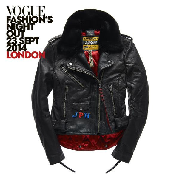 Can't make it to #FNO? RT to #win this personalised #leather jacket. Comp ends 30/9/14. T&C >> http://t.co/KdscSTBEDR http://t.co/670x8KiUxA