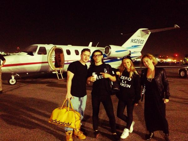 Las night lost my PJ v-plates w/ @Skrillex @GeorgiaKu @lifesabreeze + the bwadman Drew ✈️