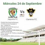 Mañana miércoles 24 de Septiembre todos al estadio a apoyar a Jaguares de Córdoba. Entrada Libre para estudiantes. http://t.co/8Zab5DxYP0