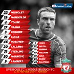 Confirmed: #LFC's starting line-up and substitutes v @Boro http://t.co/UTATWxWhQT