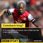 As Abou Diaby starts for @Arsenal, we want to know who you think has made the greatest sporting comeback #bbcfootball http://t.co/bV9uDy3ioH
