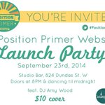 So whos coming to the #PositionPrimer launch party tonight? https://t.co/6d5HbEyLx2 #TOpoli http://t.co/Lx6KPT64G1