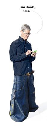 Attempting to obfuscate #BendGate & leap further into fashion, Tim Cook purchased & flaunted 1990s denim company Jnco http://t.co/n2gbXVob5T